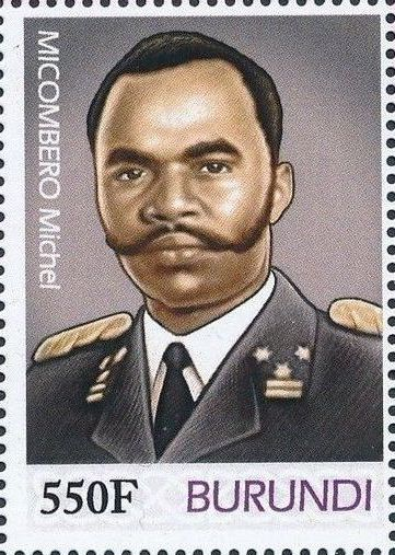 Burundi 2012 Presidents of Burundi - Michel Micombero b.jpg