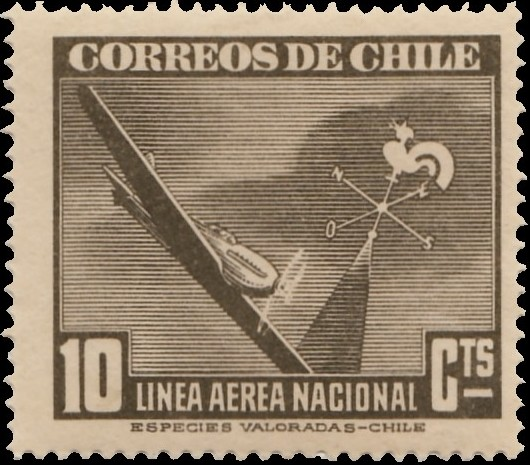 Chile 1941 Air Post Stamps (Type 1941)