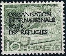 Switzerland 1950 Landscapes and Technology Official Stamps for The International Organization for Refugees b.jpg