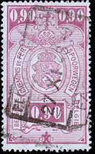 Belgium 1941 Railway Stamps (Numeral in Rectangle IV) i.jpg
