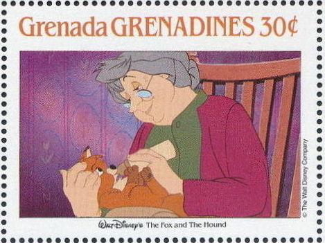 Grenada Grenadines 1988 The Disney Animal Stories in Postage Stamps 2b.jpg