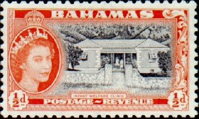 Bahamas 1954 Queen Elisabeth II and Landscapes Issue