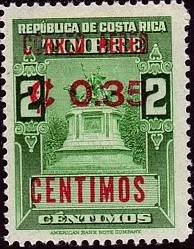 Costa Rica 1962 Revenue Stamp Surcharged and Overprinted b.jpg