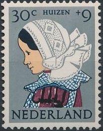 Netherlands 1960 Surtax for Child Welfare - Regional Costumes e.jpg