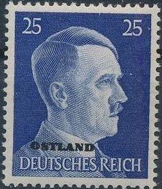 German Occupation-Russia Ostland 1941 Stamps of German Reich Overprinted in Black m.jpg