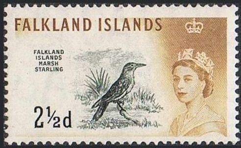 Falkland Islands 1960 Queen Elizabeth II and Birds d.jpg