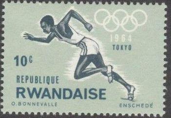 Rwanda 1964 18th Olympic Games in Tokyo