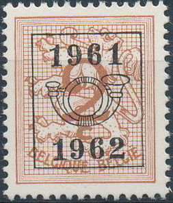 Belgium 1961 Heraldic Lion with Precancellations