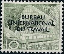 Switzerland 1950 Landscapes and Technology Official Stamps for The International Labor Bureau b.jpg