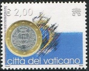 Vatican City 2004 Flags and One-Euro Coins n.jpg