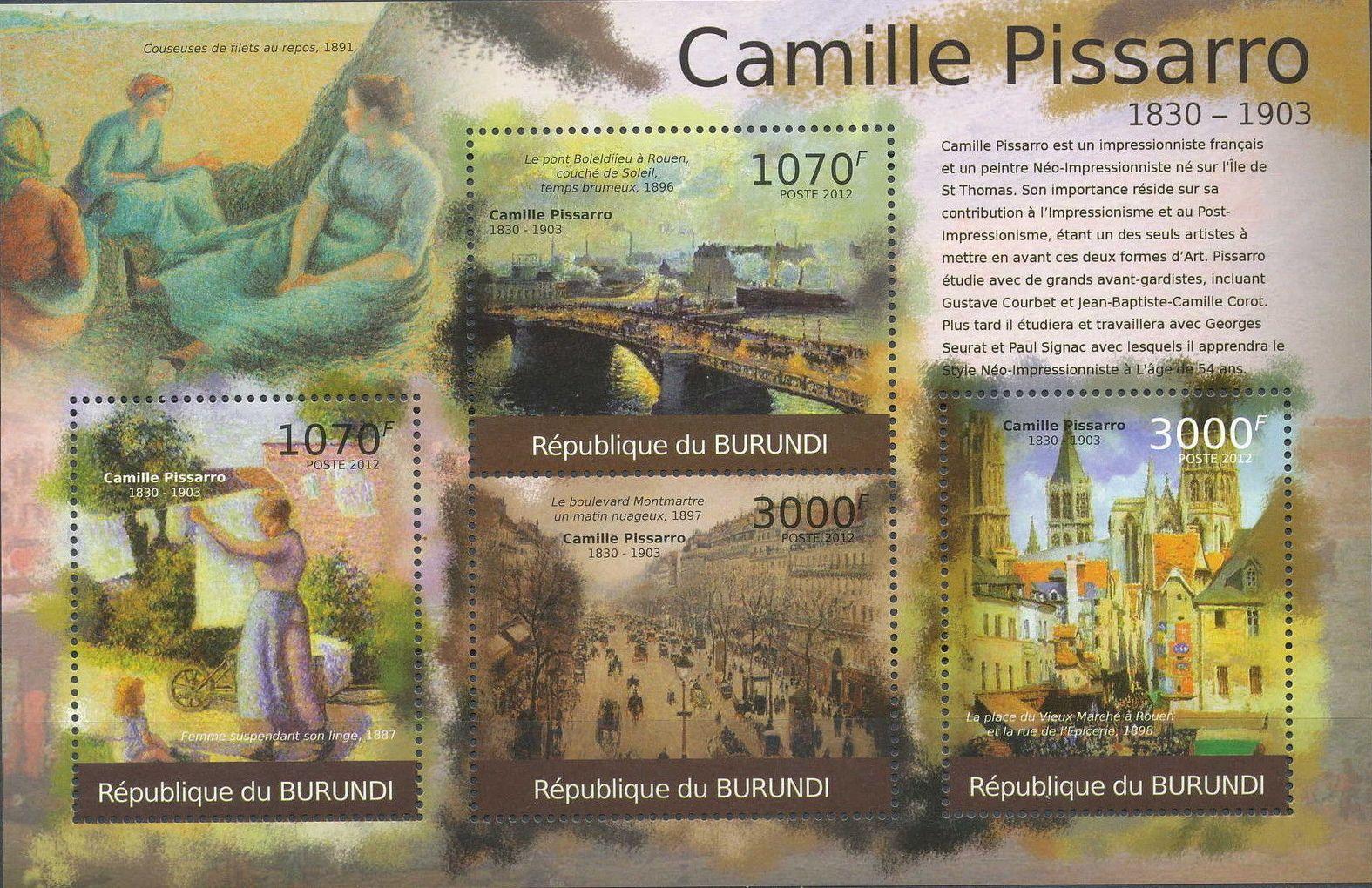 Burundi 2012 Paintings by Camille Pissaro