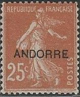 "Andorra-French 1931 Type ""Semeuse"" of France Overprinted ""ANDORRE"" c.jpg"