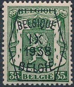 Belgium 1938 Coat of Arms - Precancel (9th Group) e.jpg