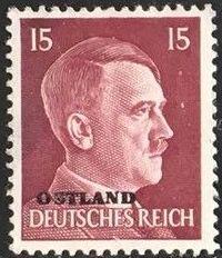 German Occupation-Russia Ostland 1941 Stamps of German Reich Overprinted in Black i.jpg