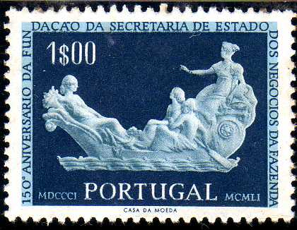 Portugal 1954 150th Anniversary of the Founding of the State Secretariat for Financial Affairs