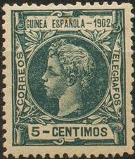 Spanish Guinea 1902 Alfonso XIII