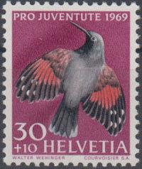 Switzerland 1969 PRO JUVENTUTE - Birds c.jpg