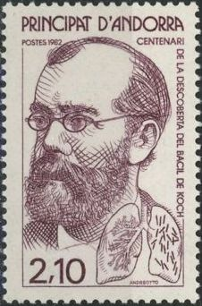 Andorra-French 1982 100th Anniversary of Dr. Robert Kochs Discovery of Tuberculosis a.jpg