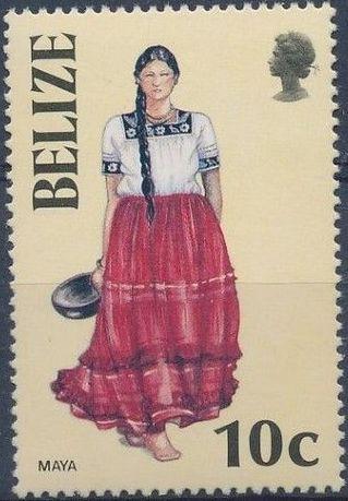 Belize 1986 Women in Folk Costumes b.jpg