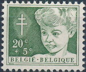 Belgium 1954 Anti-Tuberculosis Work