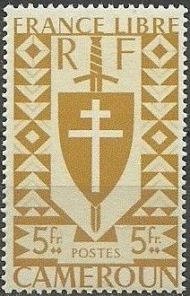 Cameroon 1941 Lorraine Cross and Joan of Arc Shield l.jpg