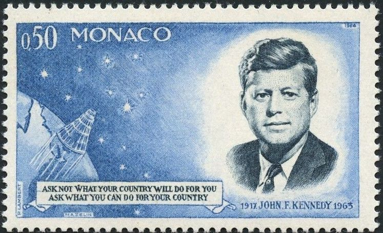 Monaco 1964 Pres. John F. Kennedy and Mercury Capsule
