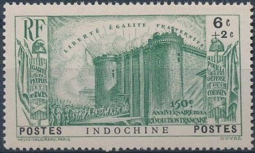 Indo-China 1939 150th Anniversary of the French Revolution