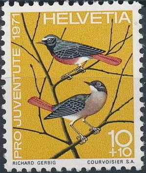 Switzerland 1971 PRO JUVENTUTE - Birds