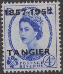 British Offices in Tangier 1957 Centenary Overprint (1857-1957) g.jpg