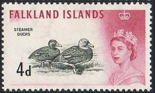 Falkland Islands 1960 Queen Elizabeth II and Birds f.jpg