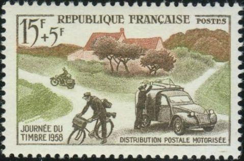 France 1958 Stamp Day