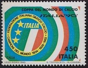 Italy 1990 World Cup Football Championships in Italy