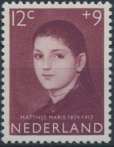 Netherlands 1957 Child Welfare Surtax - Girls' Portraits d.jpg