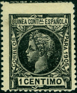Spanish Guinea 1905 Alfonso XIII