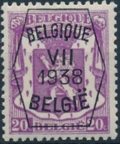 Belgium 1938 Coat of Arms - Precancel (7th Group) b.jpg
