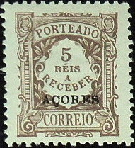 Azores 1904 Postage Due Stamps Overprinted