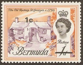 Bermuda 1970 Definitive Issue of 1962 Surcharged