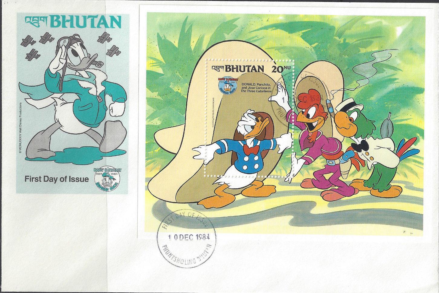 Bhutan 1984 50th Anniversary of Donald Duck n.jpg