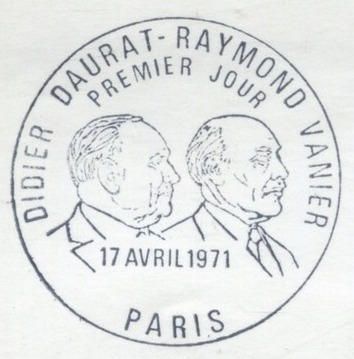 France 1971 Didier Daurat and Raymond Vanier Aviation Pioneers PM Paris.jpg