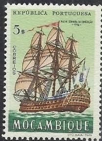 Mozambique 1963 Development of Sailing Ships l.jpg
