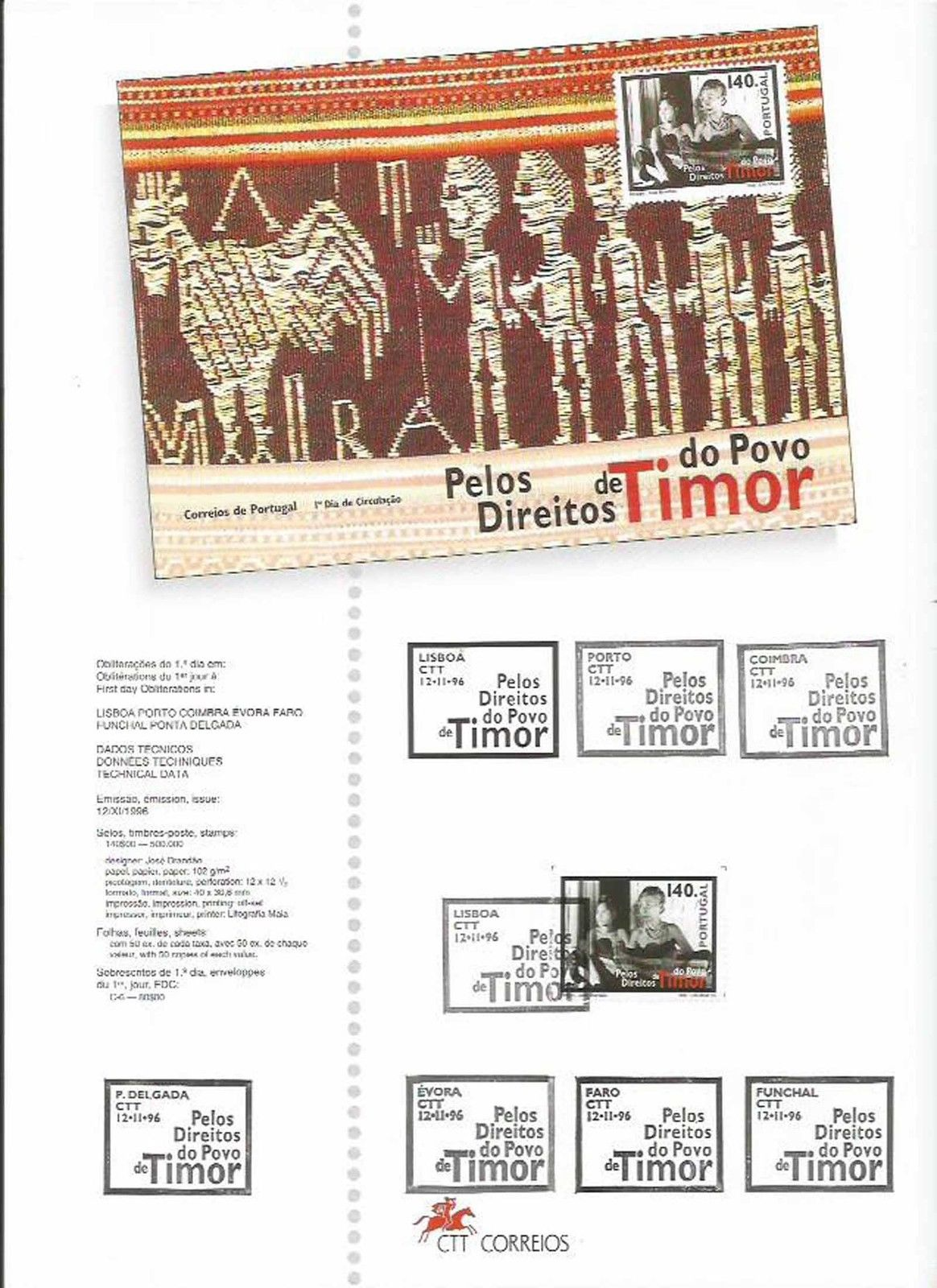 Portugal 1996 Rights of the People of East Timor IOPa.jpg