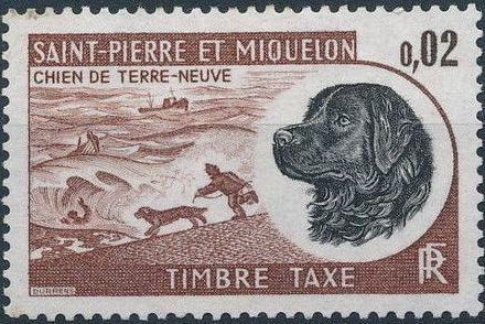 St Pierre et Miquelon 1973 Newfoundland Dog - Postage Due Stamps