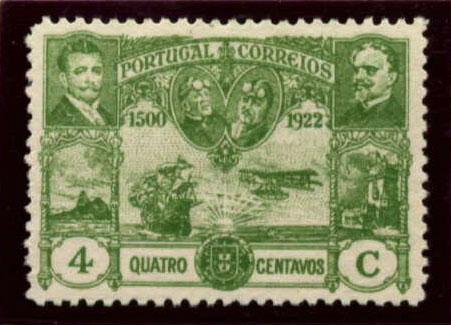 Portugal 1923 First flight Lisbon Brazil d.jpg