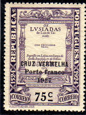 Portugal 1927 Red Cross - 400th Birth Anniversary of Camões d.jpg