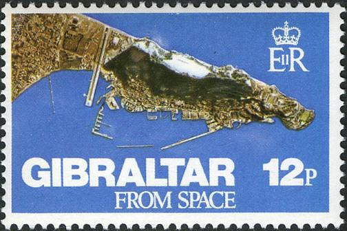 Gibraltar 1978 Gibraltar from Space