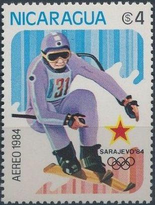 Nicaragua 1984 Winter Olympics - Sarajevo' 84 (Air Post Stamps)
