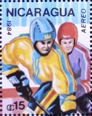 Nicaragua 1984 Winter Olympics - Sarajevo' 84 (Air Post Stamps) d.jpg