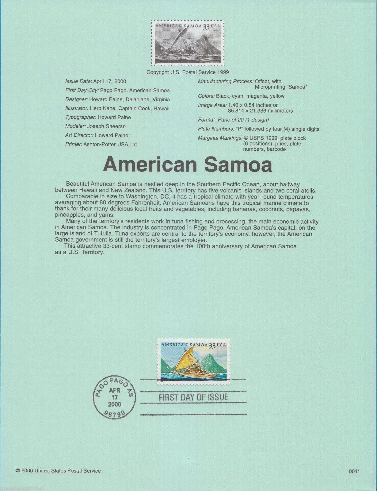 United States of America 2000 American Samoa