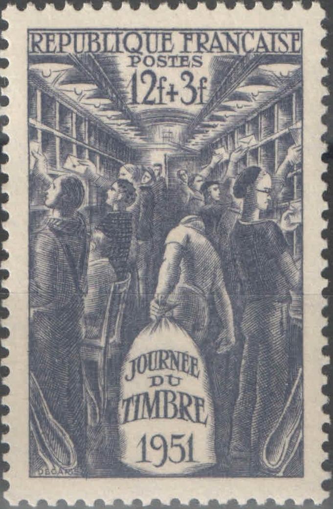 France 1951 Stamp Day