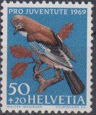 Switzerland 1969 PRO JUVENTUTE - Birds d.jpg